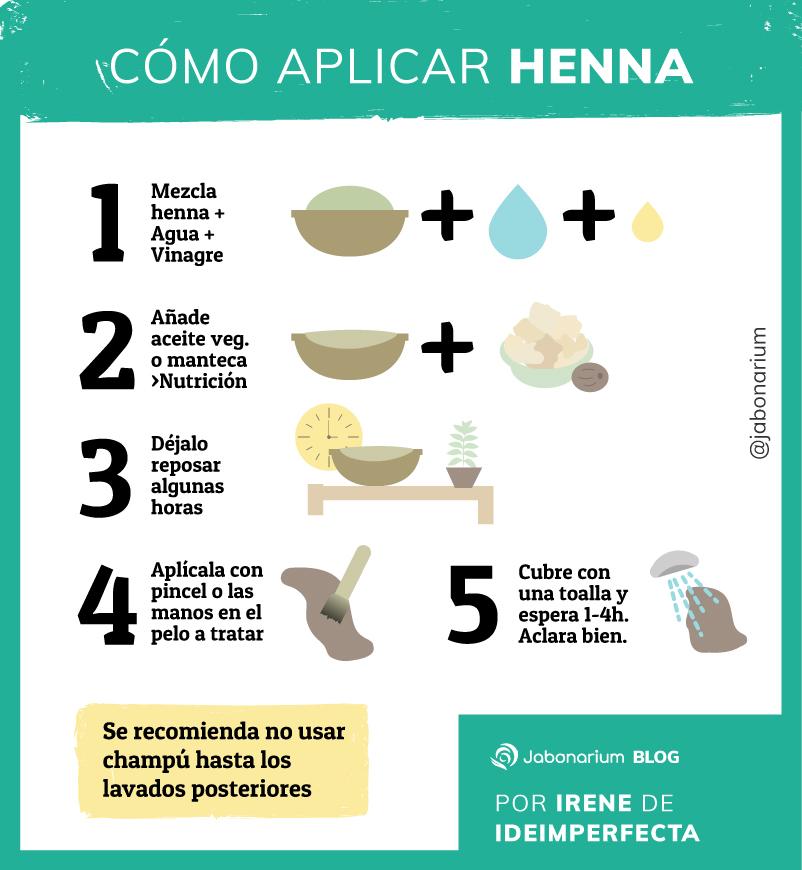 Como aplicar la henna y beneficios en cosmética natural