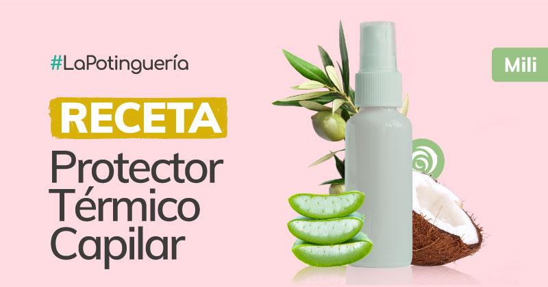 receta de spray protector termico capilar casero