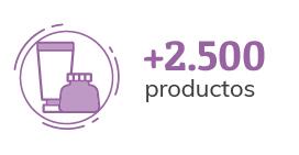 Mas de 2500 productos
